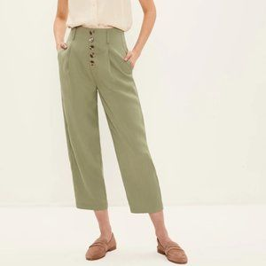 NWT Frank & Oak Alice High-Waisted Pants in Sage